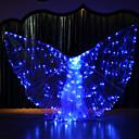 baratos Kits & Paletas para os Olhos-Acessórios de Dança Asas de Ísis Mulheres Espetáculo Terylene LED