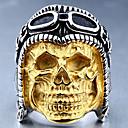 Χαμηλού Κόστους Ανδρικά Φορετά & Μοκασίνια-Ανδρικά Δαχτυλίδι 1pc Χρυσό Κράμα Ακανόνιστο Βίντατζ Πανκ Μοντέρνο Καθημερινά Κοσμήματα Πεπαλαιωμένο Στυλ Κρανίο