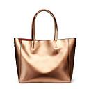 povoljno Tote torbe-Žene Patent-zatvarač Kravlja koža Tote torbica Jedna barva Crn / Sillver Gray / Lila-roza