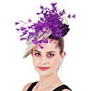 billige Bryllupsdekorasjoner-Strutsepels / Perle / Lin / Bomull Blanding pannebånd / blomster med Fjær / Kronblader / Blomster 1 Deler Fest / aften / Belmont Stakes Hodeplagg