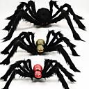 billige Badehåndkle-super stor plysj edderkopp laget av tråd og plysj svart stil for fest eller halloween dekorasjoner 1 stk