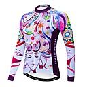 povoljno Biciklističke majice-WEIMOSTAR Cvjetni / Botanički Žene Dugih rukava Biciklistička majica - purpurna boja Bicikl Biciklistička majica Majice Ugrijati Prozračnost Quick dry Sportski Zima Poliester Elastan Terilen Brdski