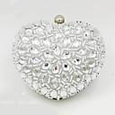 billige Clutch- og aftenvesker-Dame Krystalldetaljer Akryl Aftenveske Helfarge Sølv