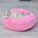 Χαμηλού Κόστους Κρεβάτια & Κουβέρτες σκυλιών-Σκυλιά Κουνέλια Γάτες Κρεβάτια Χαλάκια & Μαξιλαράκια Χνουδωτό Μονόχρωμο Καφέ Ροζ Ανοικτό Λευκό