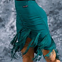 cheap Latin Shoes-Latin Dance Bottoms Women's Training Crystal Cotton Tassel Skirts