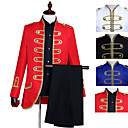 cheap Historical & Vintage Costumes-Prince Retro Vintage Medieval Coat Pants Outfits Masquerade Men's Costume Black / White / Red Vintage Cosplay Party Long Sleeve Pantsuit / Jumpsuit