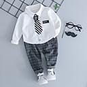 povoljno Kompletići za dječake-Djeca Dječaci Osnovni Print Dugih rukava Komplet odjeće Svijetlosiva