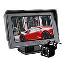 Χαμηλού Κόστους Κάμερα Οπισθοπορείας Αυτοκινήτου-ziqiao αυτοκίνητο 8 οδήγησε φώτα αναστροφή κάμερα οπίσθιας προβολής με οθόνη 4,3 ιντσών οθόνη