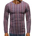 Χαμηλού Κόστους Αντρικά Κολιέ-Ανδρικά T-shirt Βασικό / Κομψό Μονόχρωμο Κρασί
