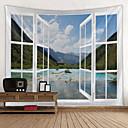 billige Wall Tapestries-Hage Tema / Blomster Tema Veggdekor 100% Polyester Klassisk / Moderne Veggkunst, Veggtepper Dekorasjon