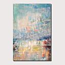 ราคาถูก ภาพวาดแอบสแตรก-ภาพวาดสีน้ำมันแขวนทาสี มือวาด - แอ็ปสแต็ก ภูมิประเทศ ร่วมสมัย ที่ทันสมัย รวมถึงด้านในกรอบ