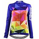 Χαμηλού Κόστους Τζάκετ Ποδηλασίας-21Grams Γυναικεία Μακρυμάνικο Φανέλα ποδηλασίας Χειμώνας Προβιά 100% Πολυέστερ Μπλε Καρό Ποδήλατο Αθλητική μπλούζα Μπολύζες Ποδηλασία Βουνού Ποδηλασία Δρόμου / Ελαστικό / Γρήγορο Στέγνωμα / Αναπνέει