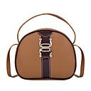 olcso Keresztpántos táskák-Női Cipzár PU Vállon átvetős táska Tömör szín Fekete / Barna / Arcpír rózsaszín