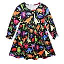 billiga Flickklänningar-Barn Flickor Geometrisk Klänning Svart