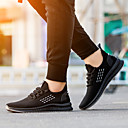 Χαμηλού Κόστους Αντρικά Αθλητικά Παπούτσια-Ανδρικά Παπούτσια άνεσης Φουσκωτό πηνίο Φθινόπωρο / Ανοιξη καλοκαίρι Καθημερινό Αθλητικά Παπούτσια Τρέξιμο / Περπάτημα Μη ολίσθηση Ριγέ Μαύρο και Άσπρο / Μαύρο / Κίτρινο / Πορτοκαλ & Μαύρο