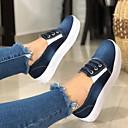 Χαμηλού Κόστους Πατάκια & Χαλάκια-Γυναικεία Αθλητικά Παπούτσια Επίπεδο Τακούνι Στρογγυλή Μύτη Πανί Καλοκαίρι Μπλε / Σκούρο μπλε / Γκρίζο