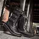 זול מגפיים לגברים-בגדי ריקוד גברים נעלי נוחות מיקרופייבר סתיו חורף מגפיים שמור על חום הגוף מגפיים באורך אמצע - חצי שוק שחור