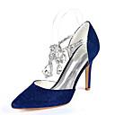 Χαμηλού Κόστους Γυναικεία παπούτσια γάμου-Γυναικεία Γαμήλια παπούτσια Τακούνι Στιλέτο Μυτερή Μύτη Τεχνητό διαμάντι Συνθετικά Μινιμαλισμός Φθινόπωρο / Ανοιξη καλοκαίρι Μαύρο / Χρυσό / Βαθυγάλαζο / Γάμου / Πάρτι & Βραδινή Έξοδος