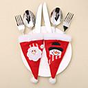 povoljno Božićni ukrasi-2pcs božićni šešir za noževe i vilice vrećice / ukrasi za odmor novogodišnji