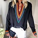 billige Historiske kostymer og vintagekosty,re-T-skjorte Dame - Fargeblokk Svart