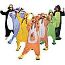 ราคาถูก ชุดนอน Kigurumi-ผู้ใหญ่ Kigurumi Pajama Dinosaur รูปสัตว์ Onesie Pajama Polar Fleece Maroon / ดำ / ขาว / ส้ม คอสเพลย์ สำหรับ ผู้ชายและผู้หญิง สัตว์ชุดนอน การ์ตูน Festival / Holiday เครื่องแต่งกาย
