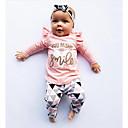 billige Mote Ryggsekker-Baby Jente Fritid / Aktiv Ensfarget / Trykt mønster Trykt mønster Langermet Normal Tøysett Rosa