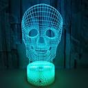 billige 3D Nattlamper-1pc 3D nattlys Usb For barn / Kreativ / Bursdag 5 V