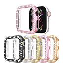baratos Tranças de Cabelo-Diamantes de linha dupla assistir caso para apple watch series 4/3/2/1 caso mulheres estilo diamante capa para iwatch 40mm / 44mm / 38mm / 42mm pára-choques acessórios