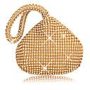 billige Fashion Rings-Dame Krystalldetaljer / Glimmer polyester Aftenveske Helfarge Svart / Gull / Sølv