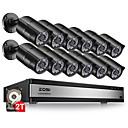 billige DVR-Sett-zosi 1080p 2mp 16ch videoovervåkning cctv system tvi recorder dvr kit vanntett video ir filter dag nattsyn bevegelsesdeteksjon e-postvarsel ip66 vanntett full HD kamera