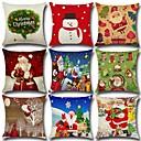 olcso Karácsonyi dekoráció-Mikulás karácsonyfa vászon párnahuzat díszek