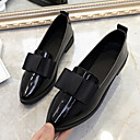 olcso Női topánkák és vászoncipők-Női Papucsok & Balerinacipők Alacsony Erősített lábujj PU Nyár Fekete / Piros