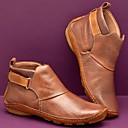 Χαμηλού Κόστους Γυναικεία Τσόκαρα & Μιουλ-Γυναικεία Μπότες Παπούτσια άνεσης Επίπεδο Τακούνι Στρογγυλή Μύτη Αγκράφα PU Μποτίνια Βίντατζ / Μινιμαλισμός Άνοιξη & Χειμώνας / Φθινόπωρο & Χειμώνας Κίτρινο / Πράσινο / Κόκκινο