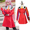 povoljno Anime kostimi-Inspirirana Draga u Franxxu Cosplay Anime Cosplay nošnje Japanski Cosplay Suits Haljina / Čarape / Šeširi Za Žene