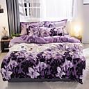 ราคาถูก ปลอกผ้าห่มลายดอกไม้-ชุดผ้านวมคลุม ลวดลายดอกไม้ / เกี่ยวกับพฤษศาสตร์ Polyester / Polyamide / ผ้าสักหลาด Reactive Print / Printed / Quilted 4 ชิ้นBedding Sets