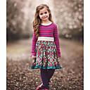 Χαμηλού Κόστους Φορέματα για κορίτσια-Παιδιά Κοριτσίστικα Ριγέ Φόρεμα Βυσσινί / Βαμβάκι