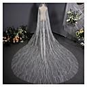 baratos Decorações para Casamento-Uma Camada Vintage Véus de Noiva Véu Capela com Adorno 137,8 cm (350 centímetros) Tule / Corte de Anjo / Cascata