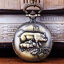 voordelige Zakhorloge-Heren Zakhorloge Kwarts Vintagestijl Brons Creatief Nieuw Design Vrijetijdshorloge Analoog-Digitaal Informeel - Bronzen