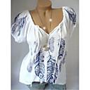 povoljno Modne ogrlice-Veći konfekcijski brojevi Majica s rukavima Žene Geometrijski oblici Širok kroj, Print Obala
