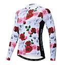 povoljno Biciklističke majice i kompleti-WEIMOSTAR Cvjetni / Botanički Žene Dugih rukava Biciklistička majica - Rose Red Bicikl Biciklistička majica Majice Ugrijati Prozračnost Quick dry Sportski Zima Poliester Elastan Terilen Brdski