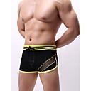 billige Undertøy og sokker til herrer-Herre Grunnleggende Boxer - Asiatisk størrelse 1 Deler Lav Midje Svart S M L