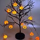 Χαμηλού Κόστους Τοιχογραφία-1,5 m halloween pumpa stränglampor med 10 led batteridrivna halloween dekorationer inomhus utomhus för fest bröllop uteplats gård varm vit 1 set