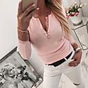 Χαμηλού Κόστους Γυναικείες Γόβες-Γυναικεία Μπλούζα Βασικό Μονόχρωμο Ανθισμένο Ροζ