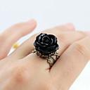 billiga Syntetiska peruker utan hätta-Dam Ring 1st Gul Blå Rosa Resin Legering Artistisk Lyx Unik design Halloween Förlovning Smycken Flower Shape Häftig Vackert