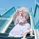 זול שמלות לוליטה-לוליטה מתוקה סגנון חמוד לוליטה שמלות בנות נקבה Japanese תחפושות Cosplay סגול בהיר חיה פטאל ללא שרוולים שרוולים קצרים באורך  הברך / שמלה