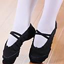baratos Kids' Flats-Para Meninas Sapatos de Dança Algodão Sapatilhas de Balé Sapatilha Sem Salto Preto / Branco / Vermelho