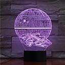 Χαμηλού Κόστους 3D φώτα τη νύχτα-1pc 3D Nightlight USB Για παιδιά / Δημιουργικό / Γενέθλια 5 V