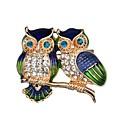 ราคาถูก เข็มกลัด-สำหรับผู้หญิง เข็มกลัด Owl สไตล์น่ารัก เข็มกลัด เครื่องประดับ สีทอง สำหรับ ทุกวัน