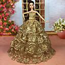 ราคาถูก อุปกรณ์ตุ๊กตา-ชุดตุ๊กตา ปาร์ตี้และมื้อเย็น สำหรับ Barbie ประดับเลื่อม เส้นใยสังเคราะห์ ชุดเดรส สำหรับ ของหญิงสาว ของเล่นตุ๊กตา