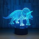 baratos Luzes Ilha-Herbívoro dinossauro 3d led lâmpada luzes da noite novidade ilusão led night lamp com cabo usb aniversário presente da festa de natal